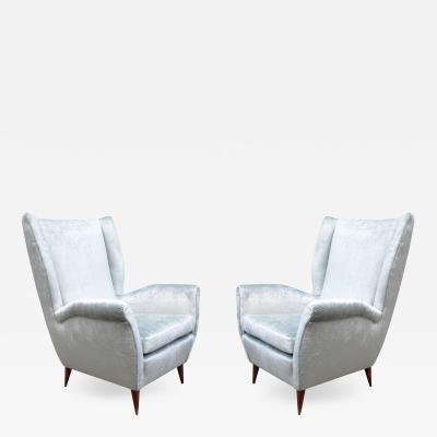 Gio Ponti Pair of Gio Ponti Wing Chairs for I S A