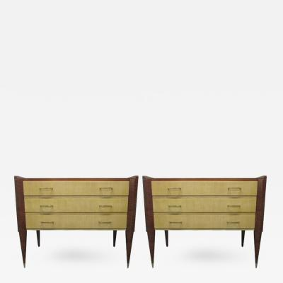 Gio Ponti Pair of Italian Chests in the Manner of Gio Ponti