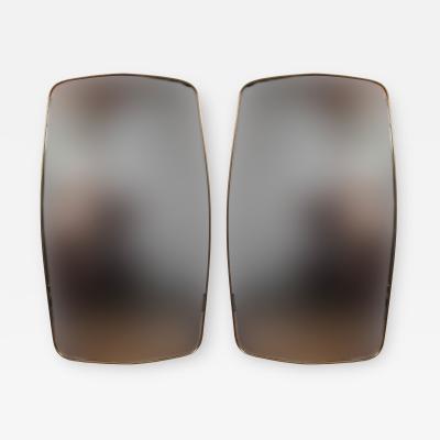Gio Ponti Pair of Italian Design Brass Mirrors