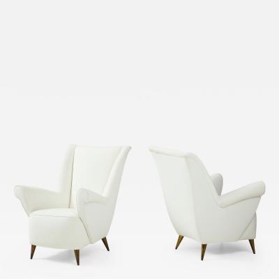 Gio Ponti Pair of Italian Vintage Lounge Chairs by Gio Ponti for ISA Bergamo