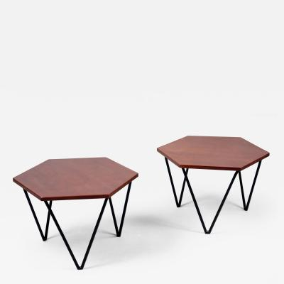 Gio Ponti Pair of Side Tables by Gio Ponti 1891 1979 ISA Edition Italy ca 1950