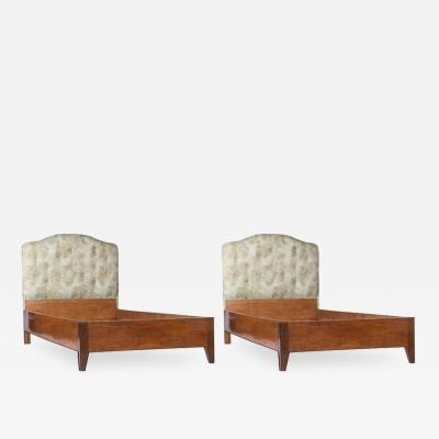 Gio Ponti Pair of Single Beds by Gio Ponti