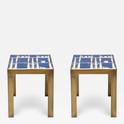 Gio Ponti Pair of ceramic side tables