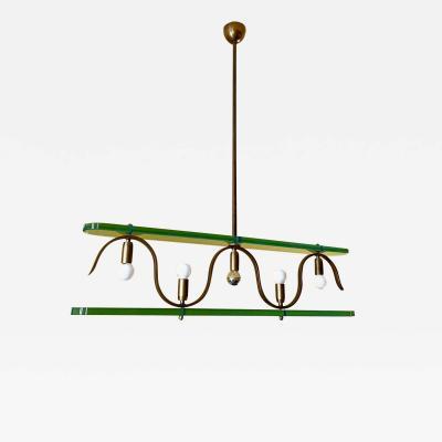 Gio Ponti Rare 1940s Ceiling Light attr to Gio Ponti