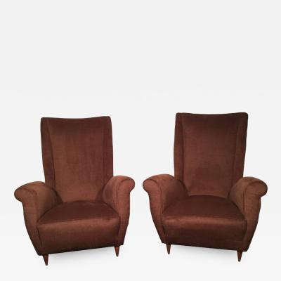 Gio Ponti Rare Armchairs Designed by Gio Ponti in the 1950s