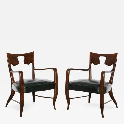 Gio Ponti Rare Pair of Armchairs by Gio Ponti