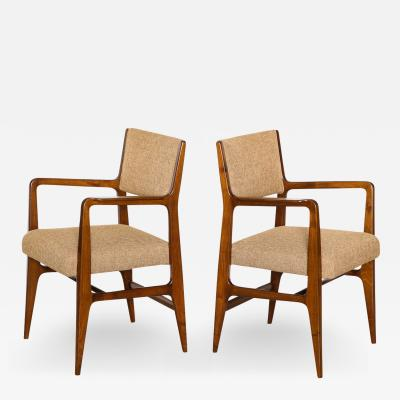 Gio Ponti Rare Pair of Armchairs by Gio Ponti for M Singer Sons