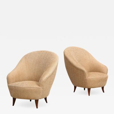 Gio Ponti Rare Pair of Chairs by Gio Ponti