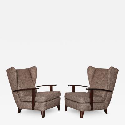 Gio Ponti Rare Pair of Early Lounge Chairs by Gio Ponti