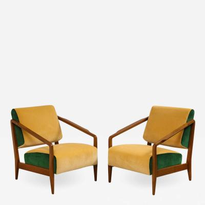 Gio Ponti Rare Pair of Lounge Chairs by Gio Ponti
