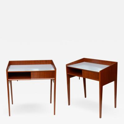 Gio Ponti Rare Pair of Mahogany and Formica Side Tables