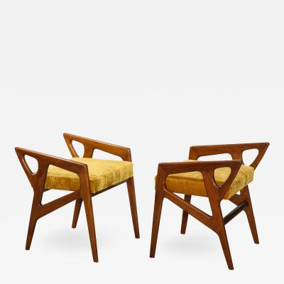 Gio Ponti Rare Pair of Sculptural Stools by Gio Ponti