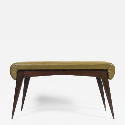 Gio Ponti Sculptural Stool with Brass Feet 1960s