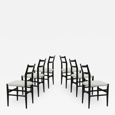 Gio Ponti Set Of Six Leggera Chairs Designed By Gio Ponti Italy 70s