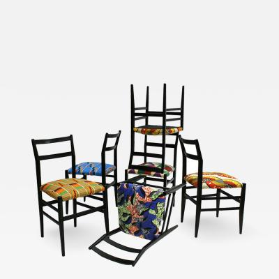 Gio Ponti Set of 12 Chairs Leggera Designed by Gio Ponti