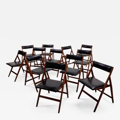 Gio Ponti Set of 12 Eden Foldable Chairs for Reguitti 1960s