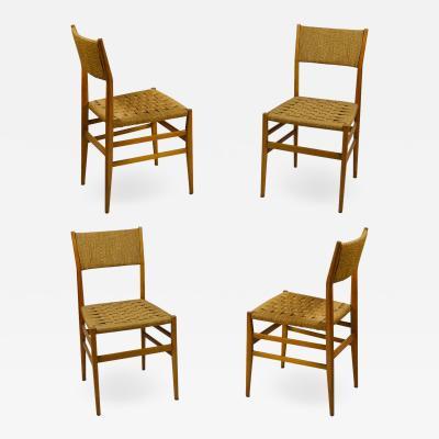 Gio Ponti Set of 4 chairs Leggera by Gio Ponti for Cassina