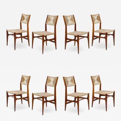 Gio Ponti Set of 8 Side Chairs by Gio Ponti for M Singer Sons
