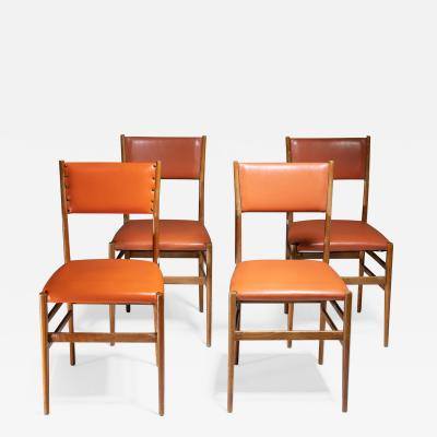Gio Ponti Set of Four Leggera Chairs by Gio Ponti for Cassina