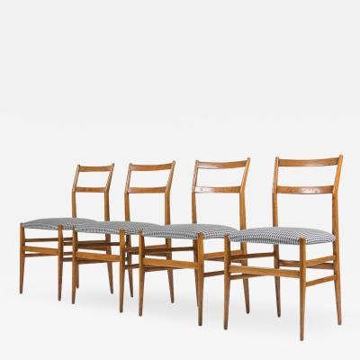 Gio Ponti Set of Four Leggera Dining Chairs by Gio Ponti for Cassina