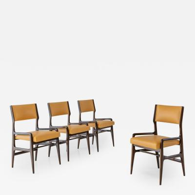 Gio Ponti Set of Four Rare Dining Chairs