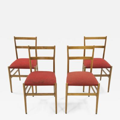 Gio Ponti Set of four Superleggera chairs by Gio Ponti circa 1950