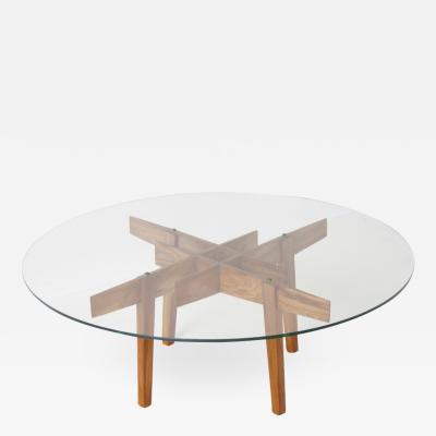 Gio Ponti Small Round Walnut Coffee Table