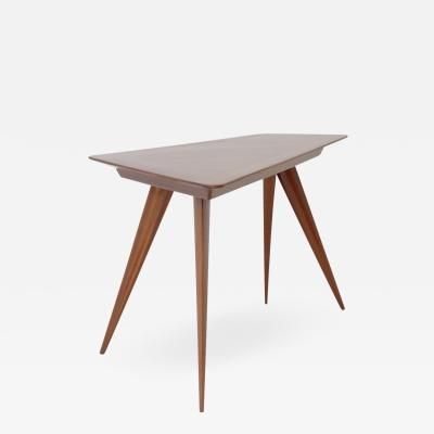 Gio Ponti Small Triangular Side Table in Walnut