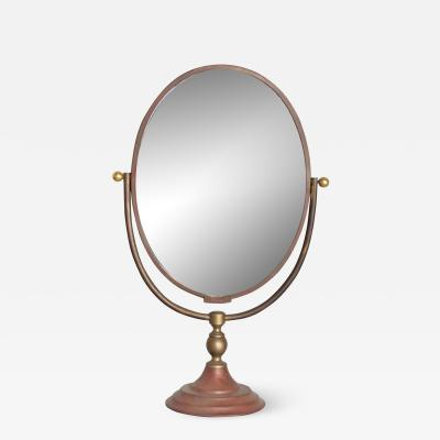 Gio Ponti Vintage Modern Vanity Table Mirror Oval
