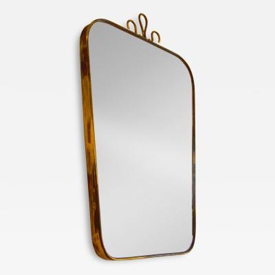Gio Ponti Wall Mirror in the style of Gio Ponti with frame in brass of 50s