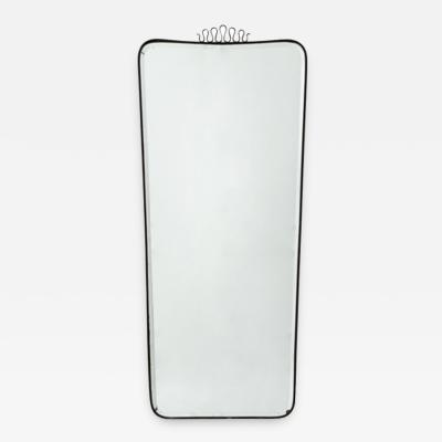 Gio Ponti Wall mirror Ground and silvered crystal brass Gio Ponti attributed