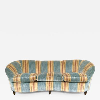 Gio Ponti Wonderful Velvet Sofa in the Style of Gio Ponti Italy 1950s