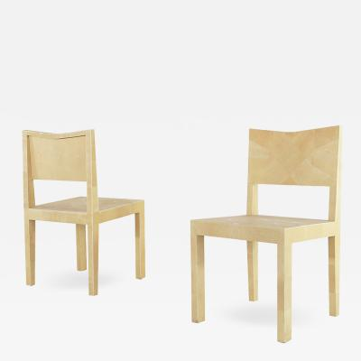 Giorgio Tura pair of chairs by Giorgio Tura from 1980