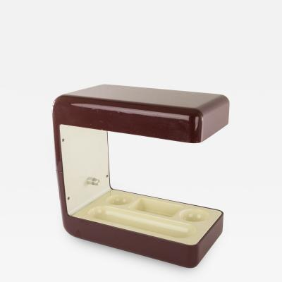 Giotto Stoppino Isos desk lamp in burgundy by Giotto Stoppino for Tronconi 1970s