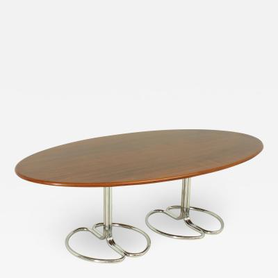 Giotto Stoppino Maia Oval Dining Table by Giotto Stoppino for Bernini