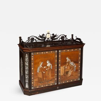 Giovanni Battista Gatti Fine Italian Table Cabinet Firmly Attributed to Giovanni Battista Gatti
