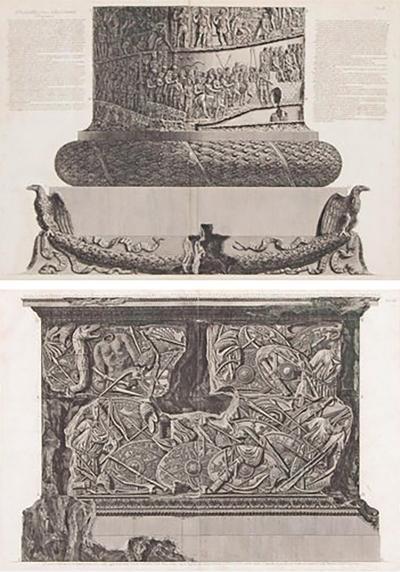 Giovanni Battista Piranesi Trajans Column Plates X and XI by Giovanni Battista Piranesi