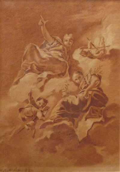 Giovanni Battista Pittoni Triumphant Females with Putti
