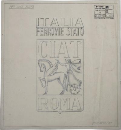 Giovanni Gariboldi Drawing by Giovanni Gariboldi for Paolo Buffa