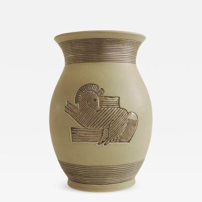 Giovanni Gariboldi Rare Giovanni Gariboldi vase for Richard Ginori Milano Italy 1930s