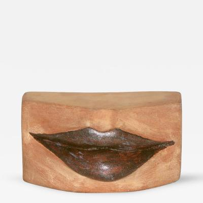 Giovanni Ginestroni Kiss Lips Terra Cotta Sculpture by Ginestroni