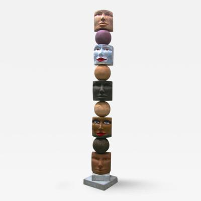 Giovanni Ginestroni Totem Contemporary Italian Organic Sculpture by Ginestroni