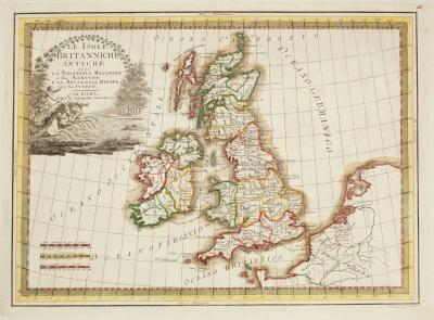 Giovanni Maria Cassini Map of the ancient British Isles