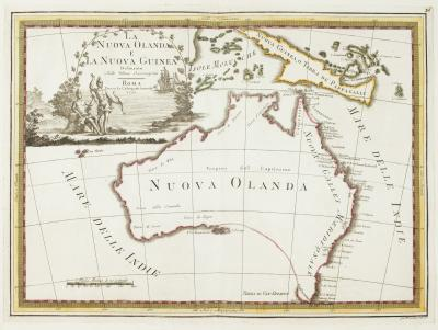 Giovanni Maria Cassini One of the most decorative maps of Australia
