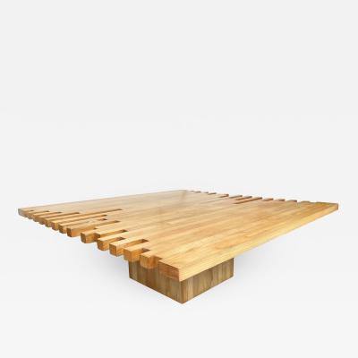 Giovanni Michelucci Mid Century Modern Wood Coffee Table by Giovanni Michelucci Italy 1960s