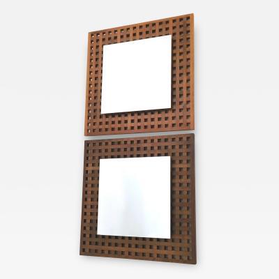 Giovanni Michelucci Pair of Wall Mirrors Attributed to Giovanni Michelucci 1960s