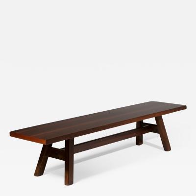 Giovanni Michelucci Torbecchia Wood Bench by Giovanni Michelucci for Poltronova