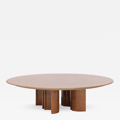Giovanni Offredi Giovanni Offredi for Saporiti High Gloss Burl Coffee Table