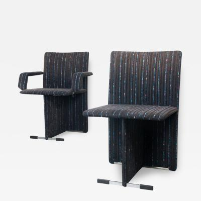 Giovanni Offredi Pair of Upholstered Chairs by Giovanni Offredi for Saporiti