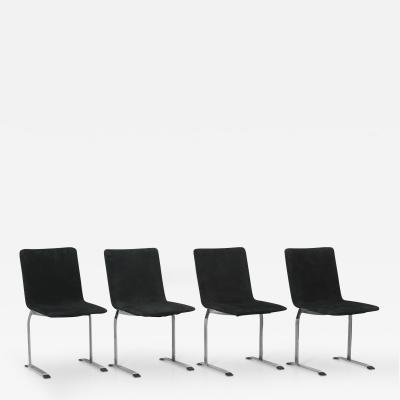 Giovanni Offredi Set of 4 Inlay Dining Chairs by Giovanni Offredi for Saporiti
